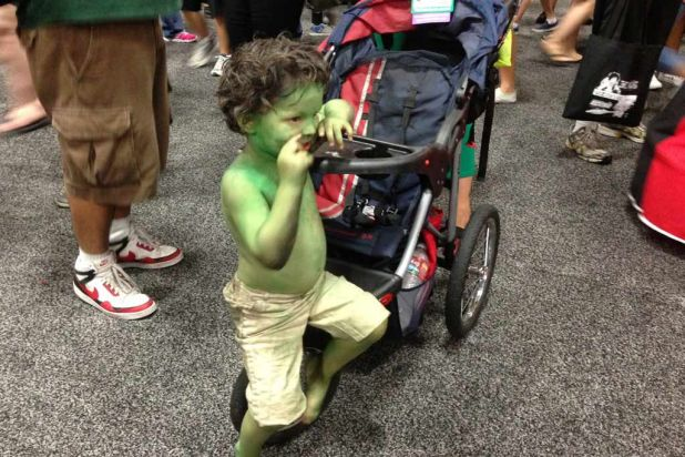 Comic-Con isn't just for big kids, it's for little kids too. This little kid is dressed as a mini version of The ...