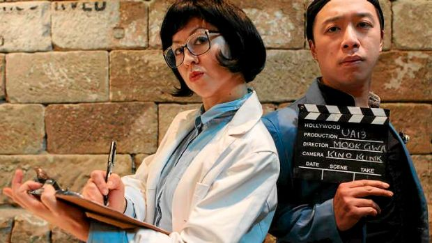 Life's a stage: Jenevieve Chang (left) and Teik-Kim Pok in Kino Klinik, a work based on a one-on-one ''therapy session''.