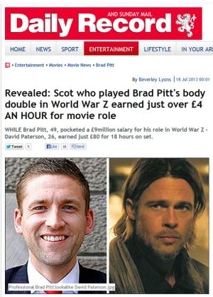 """The Daily Record's in depth interview with the """"other"""" Brad Pitt."""