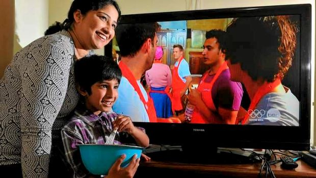 Rishi Desai's wife Mitra and six-year-old son Sharang enjoyed watching his <i>MasterChef</i> journey from their ...