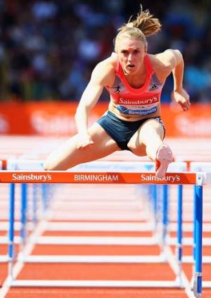 Disappointed: Sally Pearson.