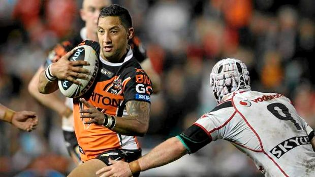 Changing stripes: Soon to be ex-Tiger Benji Marshall was unable to spark a fairytale ending to his final game at ...