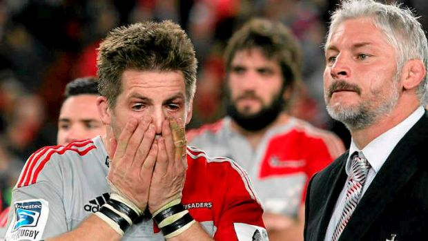 Grudge match: Richie McCaw's Crusaders will be out to avenge their painful loss to the Reds in the Super Rugby final ...