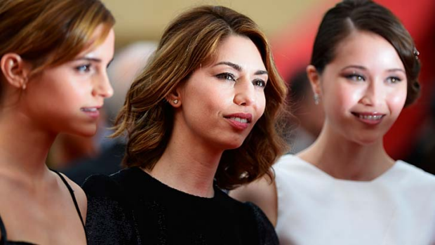 Role models: Director Sofia Coppola (centre) with actors Emma Watson (left) and Katie Chang at the premiere of <em>The ...