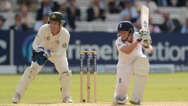 Patient punishment: Joe Root remains unbeaten on 178 at stumps.