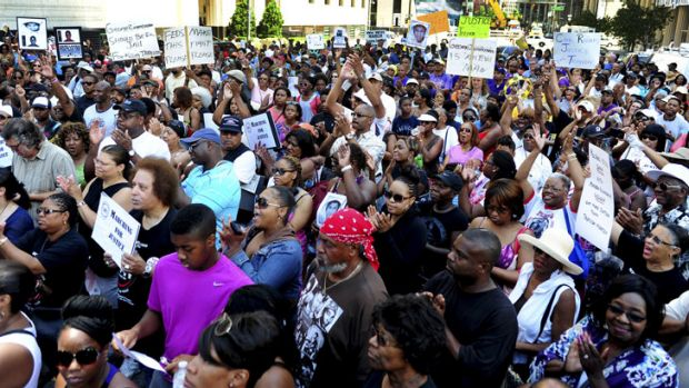 A rally in Detroit on Saturday, July 20, to call for federal civil rights charges against George Zimmerman.