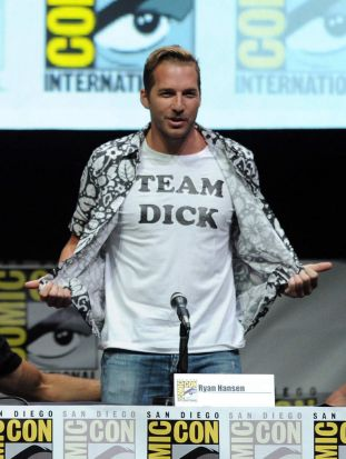 "Ryan Hansen speaks onstage at the ""Veronica Mars"" special."