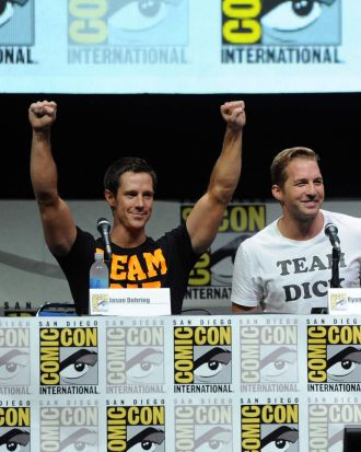 Actors Jason Dohring and Ryan Hansen.