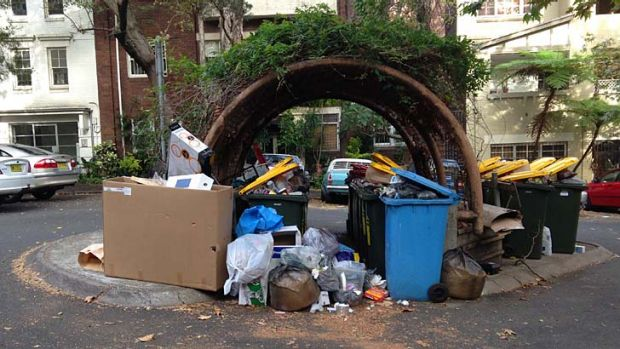 From this: The overflowing bins that now blight Darlinghurst's Royston Street and are a magnet for illegal dumpers and ...