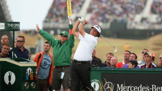 First Open win: Phil Mickelson described his  final round of 66 as the best of his career.
