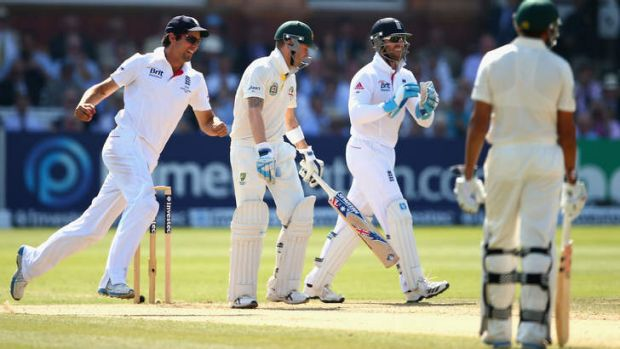 Crucial breakthrough: the dismissal of Michael Clarke sparked a middle-order collapse.