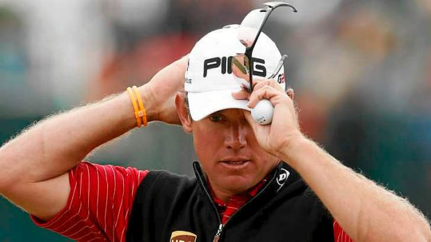 Opportunity lost: Lee Westwood of England.