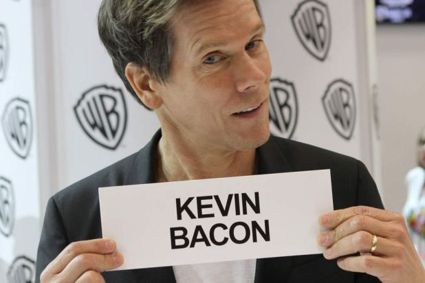 <i>The Following</i> star Kevin Bacon during Comic-Con 2013.