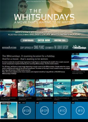 A screengrab from The Whitsundays competition page.