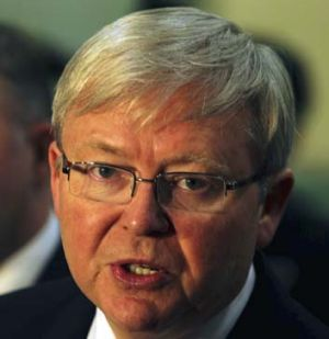 Power: Kevin Rudd says he is confident Labor can retain all its seats and win back up to eight.