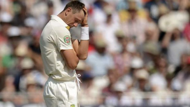 Ashes blow: James Pattinson will miss the rest of the series.