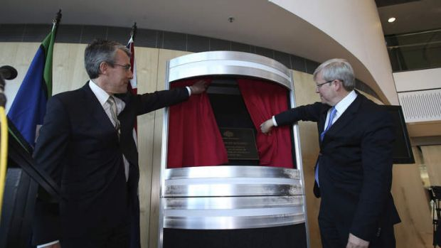 Prime Minister Kevin Rudd and Attorney-General Mark Dreyfus opened the Ben Chifley Building as the new ASIO headquarters ...