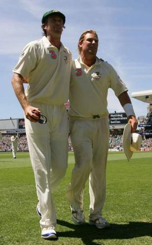 Bygone era: The psychological advantage Glenn McGrath and Shane Warne gave the Australian side is a distant memory.