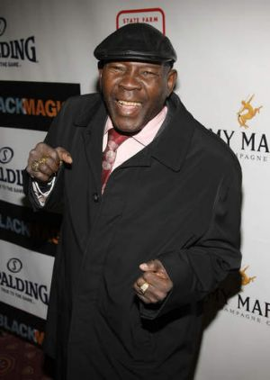 Boxing hall of famer Emile Griffith at New York's Apollo Theatre in 2008.