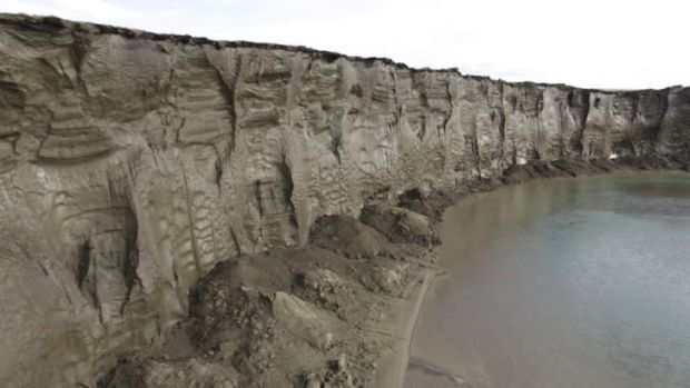 Arctic permafrost melts. Methane frozen on the sea bed for thousands of years is starting to bubble to the surface as ...