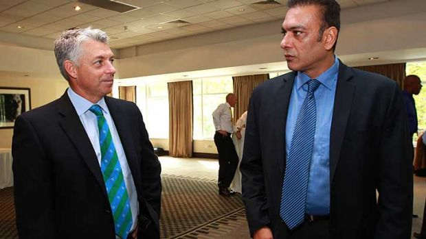 Former Indian captain Ravi Shastri (R) says India's concerns over the DRS have been vindicated, while ICC chief ...
