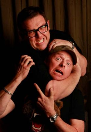 Old mates: Frost and Pegg.