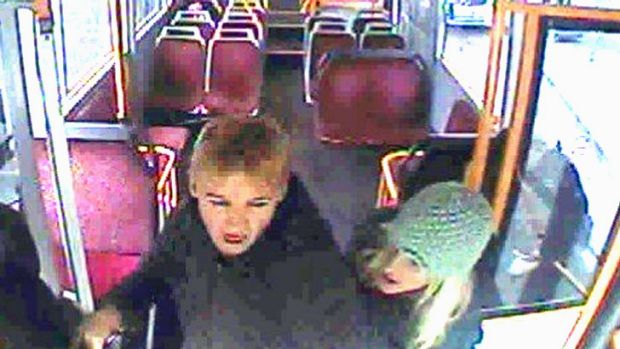 The pair turned on the driver after he confronted them about touching on their Myki cards.