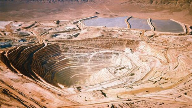 The world's largest copper mine - the Escondida project in Chile.