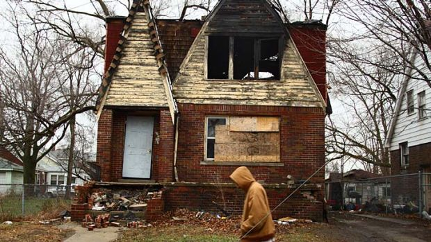 Rebuilding: Houses across the city have been left abandoned for many years.