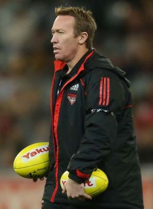 Talking up: Former high-performance manager Dean Robinson in 2012.