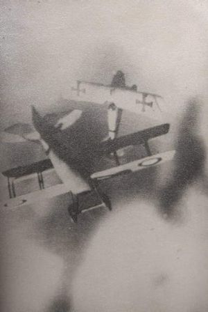 One of the fake World War One dog fight photos.