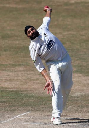 Looking to take on the Aussies:  Monty Panesar.