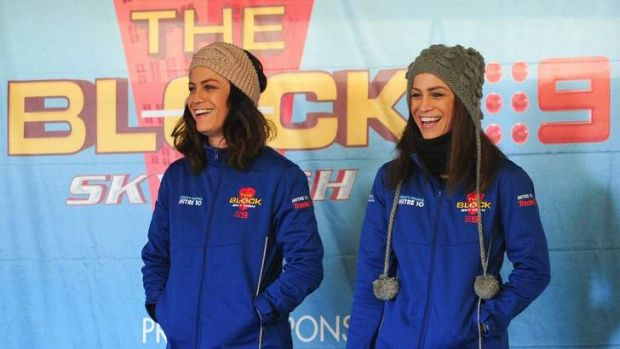 Hot property: <i>The Block Sky High</i> winners Lysandra, left, and Alisa Fraser.