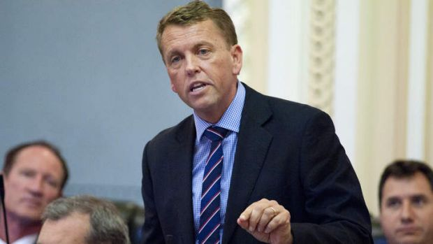 Queensland Transport and Main Roads Minister Scott Emerson denies lying to parliament about his relationship with a ...