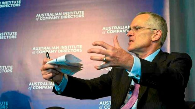 Ticked off: Coles and Woolworths are creating a duopoly, says Rod Sims.