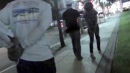 Law enforcement officers make an arrest in this still image taken from video in New Jersey, provided by the FBI July 29, ...