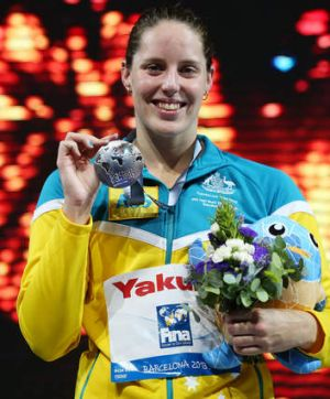 Coutts with her third silver medal of the meet.