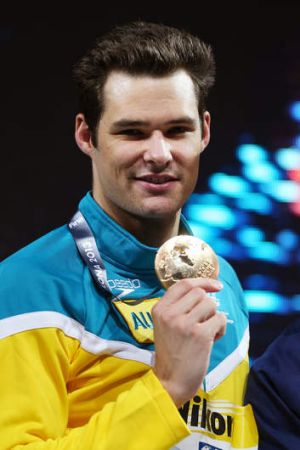 Sprenger with his medal.