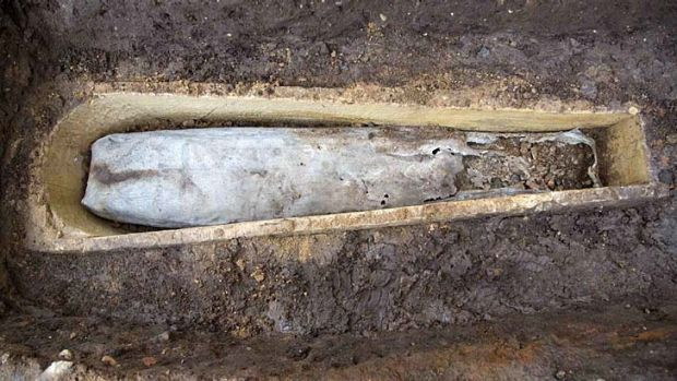 Archaeologists have discovered a mysterious coffin-within-a-coffin.