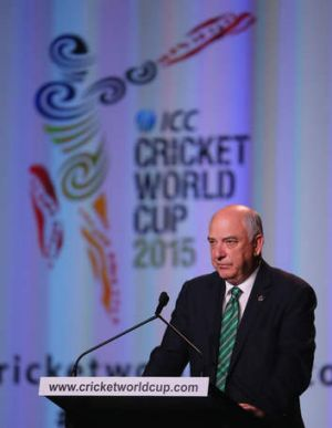Ralph Waters, Chairman, ICC Cricket World Cup 2015 speaks during the Official Launch of the ICC Cricket World Cup 2015,