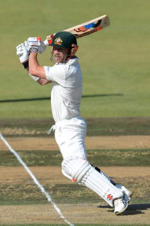 Match-winner: Former Test spearhead Brett Lee says David Warner, pictured on his way to 193 for Australia A against ...