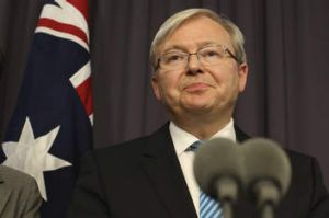 Calling in the experts: Kevin Rudd.