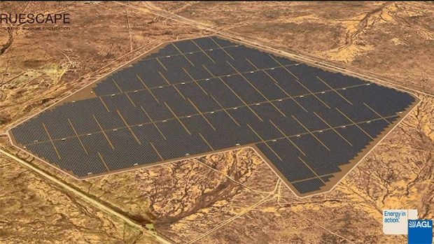 Artist's impression of the Broken Hill solar plant.