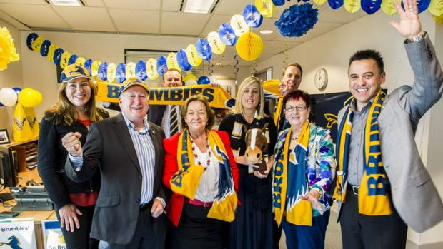 ACT Labor have put their support behind the ACT Brumbies for the super-rugby title.
