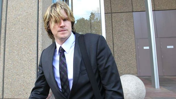Disappointed: Nathan Bracken leaves the NSW Supreme Court.