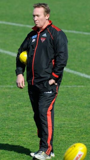 Robinson at a Bombers training session last year.