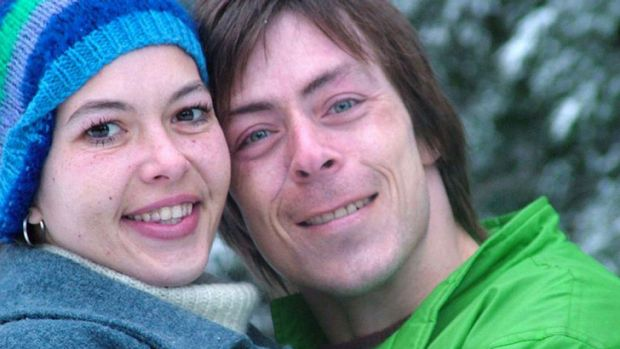 Tracy Connelly pictured with her partner Tony on holiday before her brutal murder.