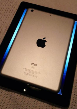 A picture of the iPad mini back-casing Sonny posted before the mini's unveiling. The only thing that changed before ...
