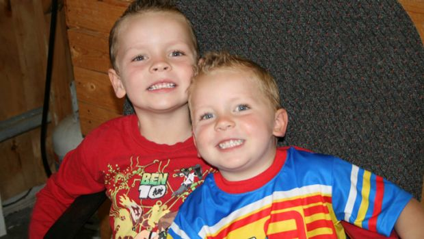 Jayden, six, and Cody, three, died at the scene of the crash.