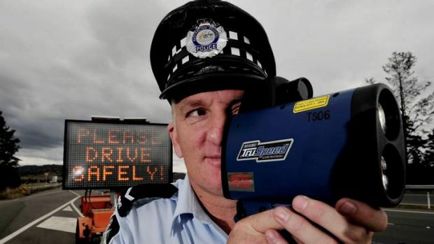 First Constable Brett Fitzroy keeps an eye on ACT's drivers.